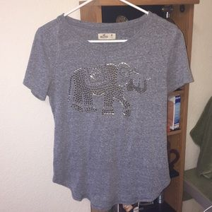 Grey T-shirt from Hollister